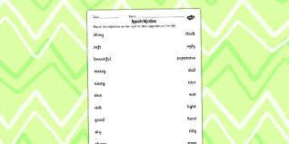 adjective worksheet opposite adjective worksheet