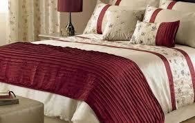 Fur Bed Set Duvet Luxury Western Red Brown Damask Silk Comforter Sets