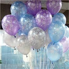 frozen balloons snowflakes frozen balloon winter frozen printed balloons