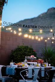 outdoor easter dinner hosting tips