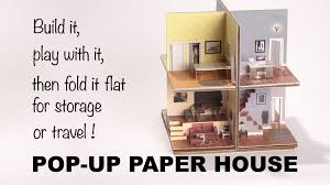 Pop Up House by Pop Up Paper House Make Anything Pop Up Tweli