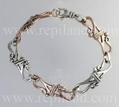 silver gold bracelet images Bracelets mixed silver gold celtic bracelets r e piland jpg