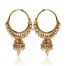 gold jhumka hoop earrings indian jhumka earrings indian jewellery bali hoop