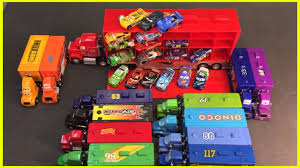 disney cars piston cup racers and haulers lightning mcqueen mack