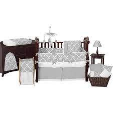 Jojo Designs Crib Bedding Sets Sweet Jojo Designs Grey And Turquoise Zig Zag 9 Piece Crib Bedding