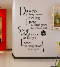 aliexpress com buy free shipping wholesale 50 discount off dance aliexpress com buy free shipping wholesale 50 discount off dance love sing live wall quotes decals removable stickers decor vinyl art wall decal from