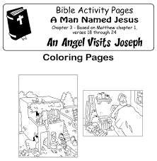 coloring page angel visits joseph my little house bible comic 2 new chapters