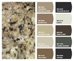 what color to paint cabinets with granite colorsnap by sherwin williams home granite countertops