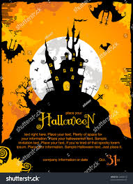 halloween invitation pictures halloween invitation background spooky castle bats stock vector