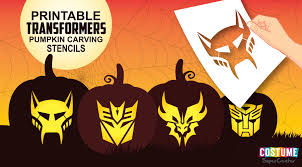 transformers pumpkin carving stencils costume supercenter blog