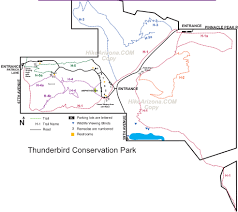 Surprise Arizona Map by Thunderbird Conservation Park U2022 Hiking U2022 Arizona U2022 Hikearizona Com