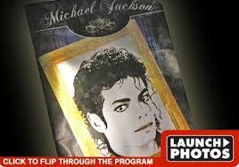 michael jackson funeral program commemorative michael jackson program tmz