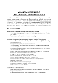 Sample Resume Objectives For Daycare Worker by Youth Care Worker Sample Resume Sample Of A Resignation Letter