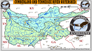 Cumberland River Map Cumberland And Tennessee River Watersheds U2013 Tennessee Riverkeeper