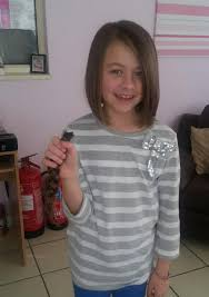 6 year old girl haircuts seven year old girl has her hair chopped off so it can be used in