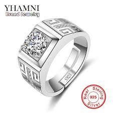 man silver rings images 2018 yhamni original real 925 sterling silver rings for man jpg