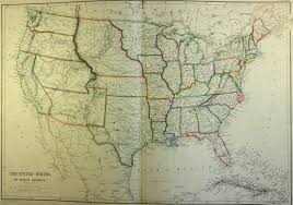 Vintage United States Map by Map Of United States 1860