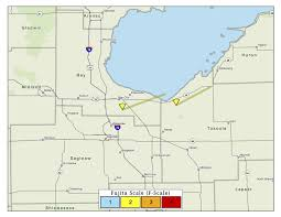 Birch Run Michigan Map by Track Michigan U0027s 12 Tornadoes From The 1965 Palm Sunday Outbreak