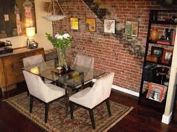 Dining Room Molding Ideas Rooms With Red Brick Walls Classic Dining Room With Brick Wall