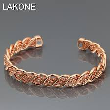 copper bangle bracelet images Pure copper magnetic wrist bangle bracelet for pain relief jpg