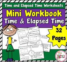 mini workbook using time and elapsed time worksheets math and
