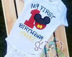 mickey mouse 1st birthday shirt mickey mouse 1st birthday shirt etsy