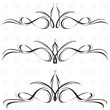 abstract line elements decorative ornament vector clipart image