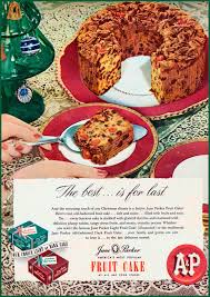 1947 christmas print ad jane parker fruit cake old a u0026p ad