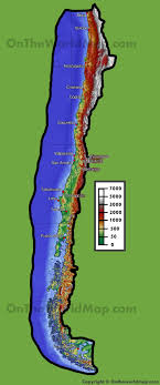 chile physical map chile physical map