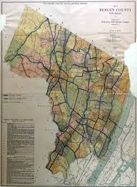 County Maps Historical Bergen County New Jersey Maps
