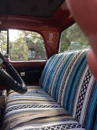 vintage truck with serape interior i want a truck that i can mod