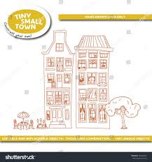 tiny small town houses part 1 stock vector 434396662 shutterstock