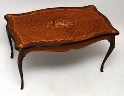 antique french style inlaid rosewood coffee table 1930 to 1950