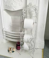 chic toilet roll holder stand free standing with storage