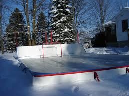 Build A Backyard Ice Rink Backyard Hockey Rink Outdoor Making Backyard Hockey Rink