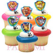 paw patrol cupcake toppers paw patrol cupcake rings paw