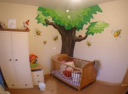 bumble bee themed baby nursery murals
