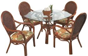 Outdoor Rattan Dining Chairs 55 18 Rattan Dining Set Kozy Kingdom