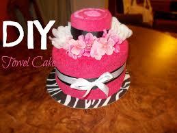 towel cakes diy towel cake
