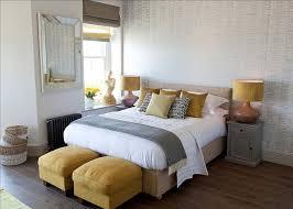 bedroom purple cushion with wooden nightstands also rectangular
