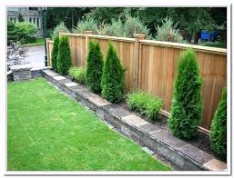 Ideas Garden Backyard Fence Styles Backyard Wood Fence Ideas Garden