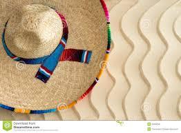 straw sombrero on golden wavy beach sand stock photo image 39496041