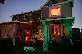 Halloween Skeleton Dog Decoration scaring up new neighbors with halloween decor the columbian