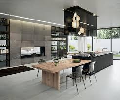 photos cuisine contemporaine table cuisine contemporaine bois idée de modèle de cuisine