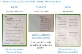 catholic cursive writing worksheets baltimore catechism