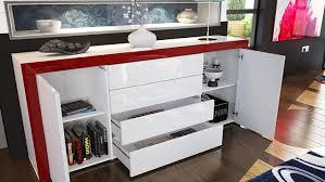 Schlafzimmerm El Highboard Sideboard Kommode La Paz Korpus In Weiß Hochglanz Front In Weiß
