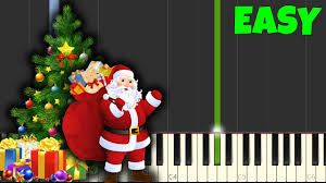 we wish you a merry easy piano tutorial synthesia