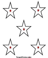 printable 5 stars bullseye shooting targets