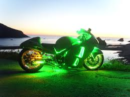 led strip lights for motorcycles stretched green led custom lighting motorcycle lighting