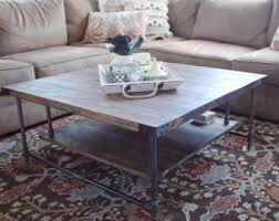 Rustic Industrial Coffee Table Industrial Coffee Table Etsy